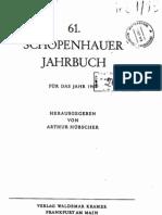 Schopenhauer Jahrbuch - 1980