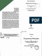 Schopenhauer, Philosophische Vorlesung 03