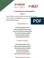 PS Lista Candidatos Delegados Paredes