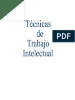 Tecnicas de Trabajo Intelectual 2011 r