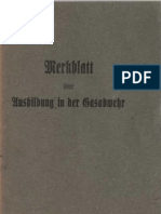Merkblatt über Ausbildung in der Gasabwehr