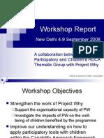 Workshop Report Presentation