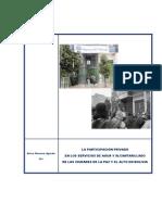 LA PARTICIPACIÓN PRIVADA EN LOS SERVICIOS DE AGUA Y ALCANTARILLADO DE LAS CIUDADES DE LA PAZ Y EL ALTO EN BOLIVIA  - ERICO NAVARRO - 2011