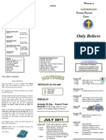 Newsletter 24 July 2011