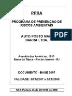 PPRA Posto de Combustivel MAP Barra