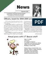 September  2004 Spot News