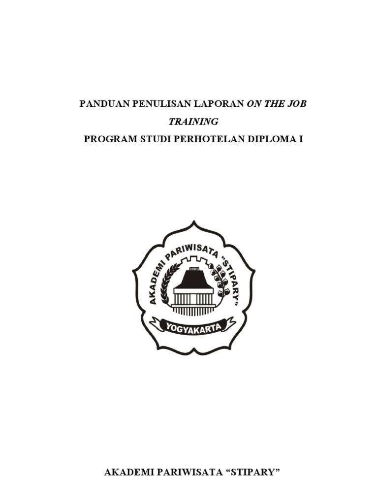 Pedoman Penulisan Laporan Ojt 2011