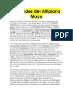 Ciudades Del Altiplano Maya