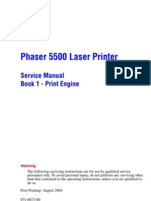 Xerox Phaser 5500 Service Manual | Electrostatic Discharge