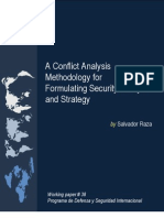 A Conflict Analysis Methodology for Formulating Security Policy and Strategy