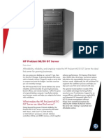 HP ProLiant ML110 G7 Datasheet