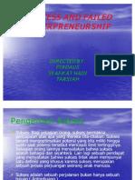 Success and Failed Enterpreneurship