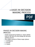 1 Phases in Decision Making Process