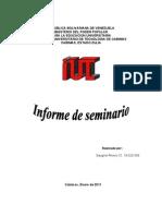 informe de seminario