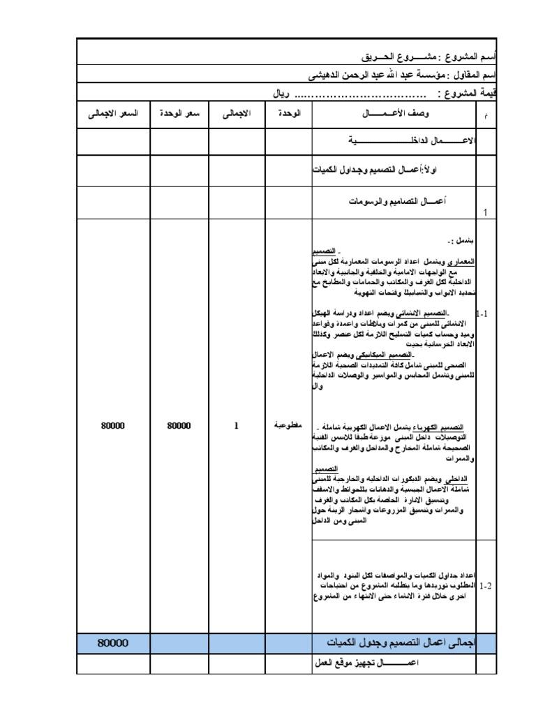 كتاب حساب الكميات والمواصفات pdf