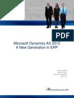 AST-0042123 Microsoft Dynamics AX 2012-NewGenerationinERP
