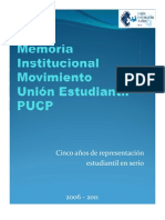 Memoria Institucional 5 años UNES