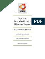 Laporan Instalasi Linux Ubuntu Server Kel.7 XII TKJ 4
