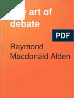 Alden (1900) - The Art of Debate