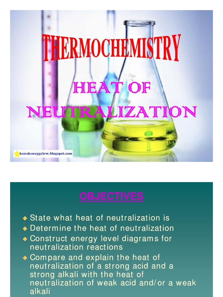 Thermochemistry - Heat of Neutralization