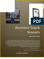 """Resistive Touch Sensors With a practical Modal of """" Touch Hand Shake """"."""
