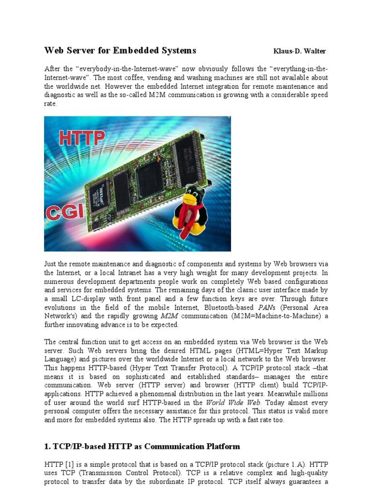 WSforES1-1 | Hypertext Transfer Protocol | Web Server