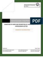 CONDITION OF WORK AND PROMOTION OF LIVELIHOODS IN THE UNORGANIZED SECTOR