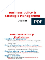 Business Policy & Strategic Management