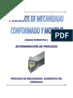 Uf1 3 Determinacion Procesos Elementos Del Torno
