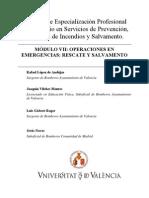 Módulo VII. Operacines en Emergencias-Rescate y Salvamento