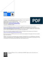 A Cluster Analysis Method for Grouping Means in the Analysis of Variance
