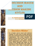 Case Methods in Decision Making-The Decion Maaker and Decision Making Styles- Jennifer Mejia
