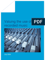 Valuing the Use of Recorded Music