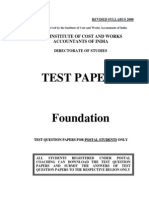 25 Icwai Foundation Test Papers