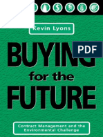 Buying for the Future Contract Management and the Environmental Challenge