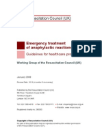 ''Anaphylactic Reaction'' UK Resuscitation Council -2010