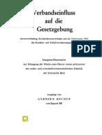 Kocher, Gerhard - Verbandseinfluss Gesetzgebung Gesundheitspolitik