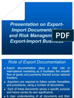 Export-Import Documentation and Risk Management in Export-Import Business