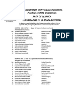 1ra OCEPB Clasiificados