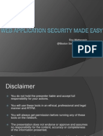 Web Application Security Made Easy_06212012