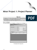Minor Project 1 Project Planner