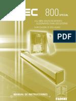 Manual Mec 800