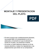 Montaje y Presentacion Del Plato