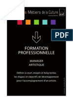 Formation Manager Artistique