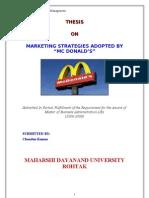 Mc' Donald - Marketing Strategy