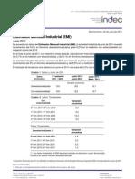 Estimador Mensual Industrial (EMI) Junio 2011