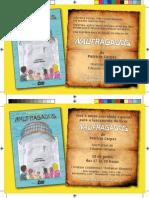 Criação e Editoração de Convites de Lançamento do Livro Naufragados