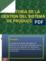 Auditoria de La Gestion Del Sistema de Produccion