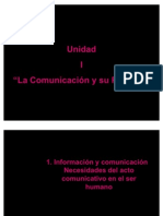 ion y Comunicacion.necesidades Del Ato Comunicativo