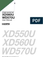 Manual Wd570u Xd560u Xd550u